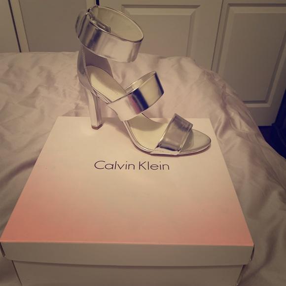 Calvin Klein Shoes - Calvin Klein Asa Metallic Heels